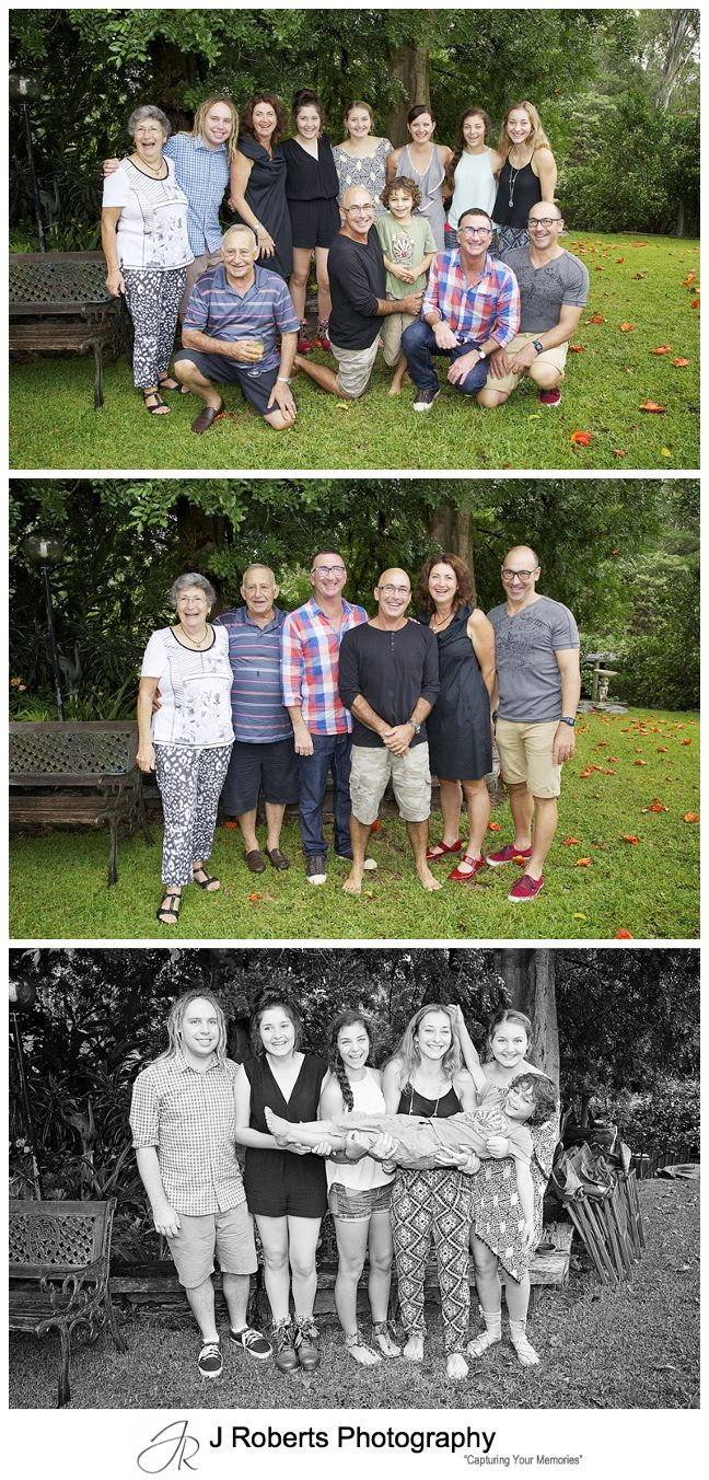 Extended Family birthday celebration photography Sydney